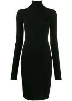 Helmut Lang knitted roll neck dress