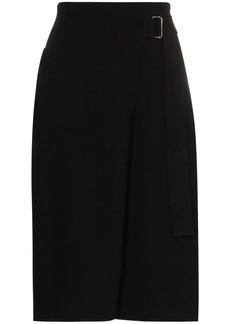 Helmut Lang knitted wrap midi skirt