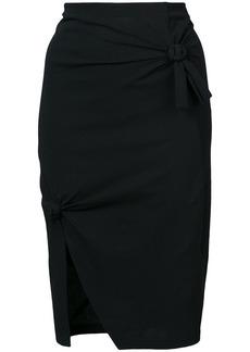 Helmut Lang knot detail skirt