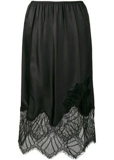 Helmut Lang lace detail skirt