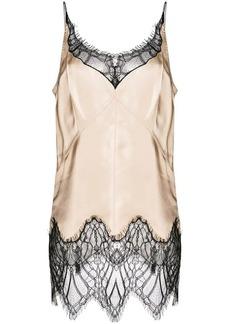 Helmut Lang lace detail vest