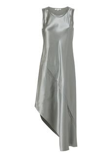 Helmut Lang Lacquered Silk Tank Dress