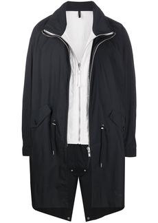 Helmut Lang layered-gilet parka coat