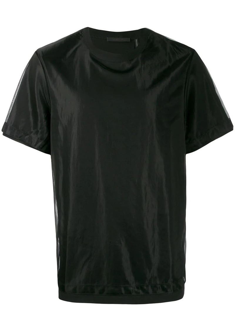 Helmut Lang layered mesh T-shirt