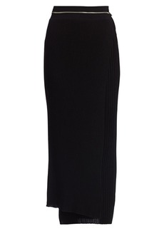 Helmut Lang Layered Wool Midi Skirt