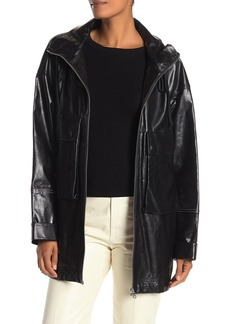 Helmut Lang Leather Anorak Jacket