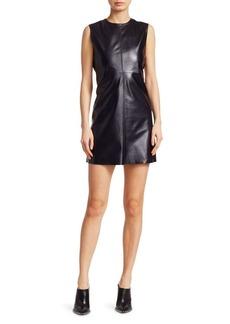 Helmut Lang Leather Cutout Shift Dress