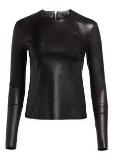 Helmut Lang Leather Long Sleeve Top