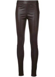 Helmut Lang leather skinny pants