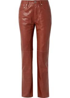 Helmut Lang Leather Straight-leg Pants