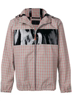 Helmut Lang logo checked windbreaker jacket