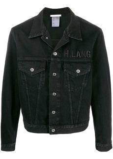 Helmut Lang logo embroidered denim jacket