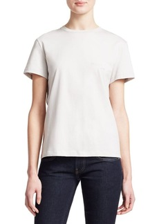 Helmut Lang Logo-Embroidery Cotton Tee