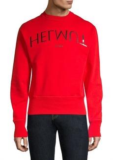 Helmut Lang Logo Hack Crewneck Sweatshirt