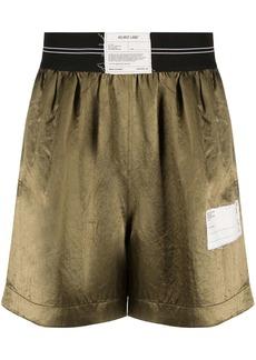 Helmut Lang logo patch shorts