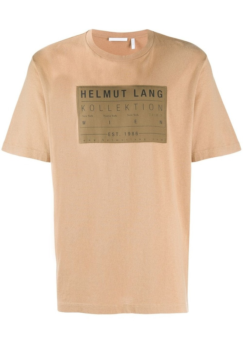 Helmut Lang logo patch T-shirt