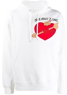 Helmut Lang logo print hoodie