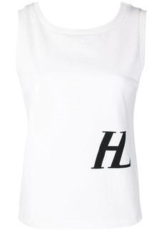 Helmut Lang logo print tank top
