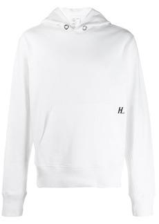 Helmut Lang logo printed hoodie