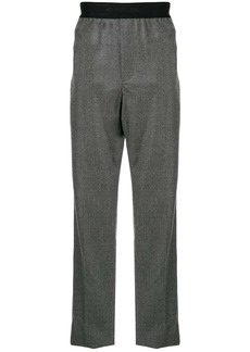 Helmut Lang logo waistband straight trousers