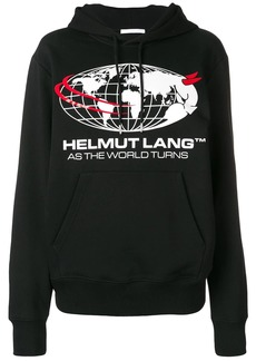 Helmut Lang logo world hoodie