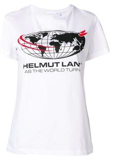 Helmut Lang logo world T-shirt