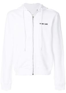 Helmut Lang logo zipped hoodie