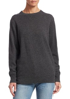 Helmut Lang Long Sleeve Cashmere Crewneck Sweater