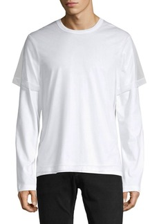 Helmut Lang Long-Sleeve Cotton-Blend Tee
