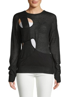 Helmut Lang Long-Sleeve Cut-Out Sweater