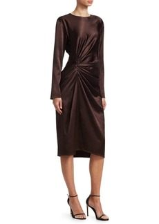 Helmut Lang Long Sleeve Gather Dress