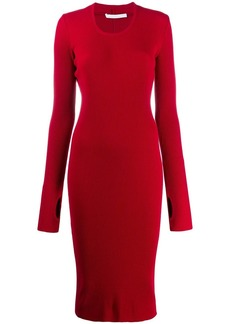 Helmut Lang long sleeve stretch fit dress