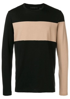Helmut Lang longsleeved colour block T-shirt