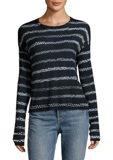 Helmut Lang Loose-Fit Striped Cashmere Sweater