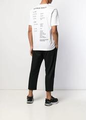 Helmut Lang map graphic T-shirt