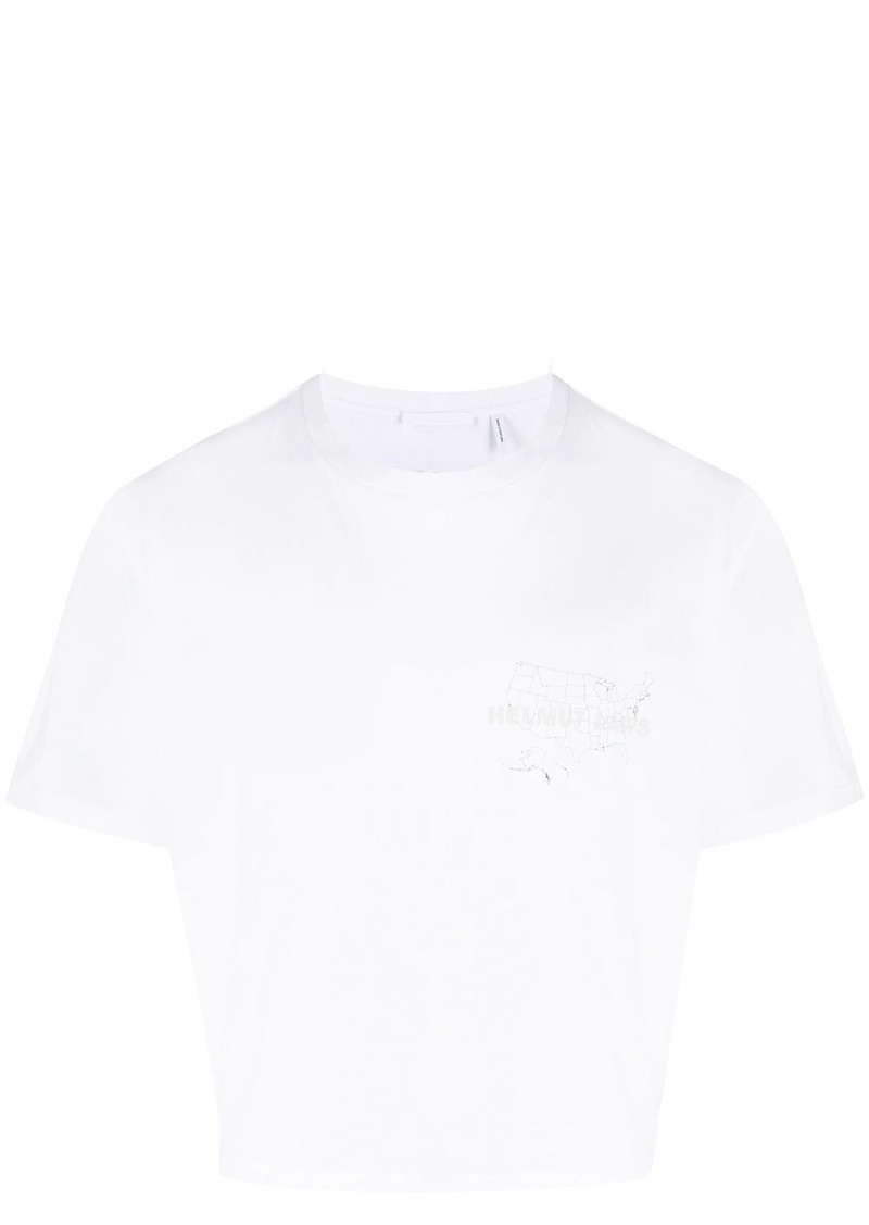 Helmut Lang map graphic T-shirt