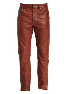 Helmut Lang Masc Hi Straight Leather Pants