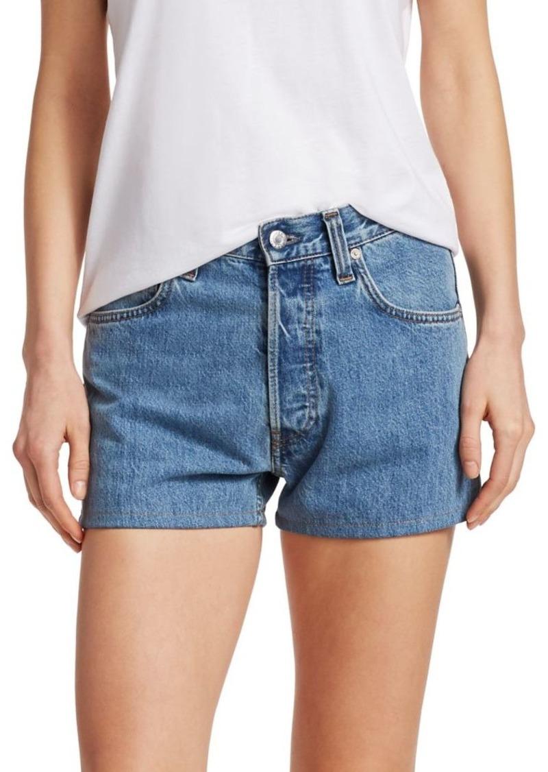 Helmut Lang Masc High-Rise Denim Shorts