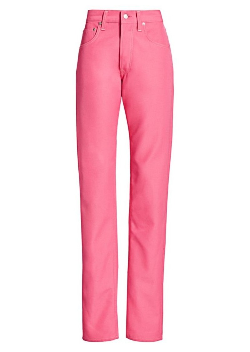 Helmut Lang Masc High-Waist Straight Jeans