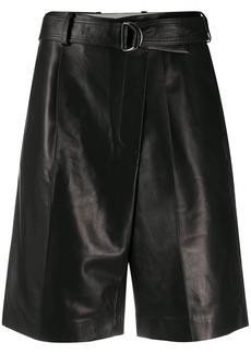 Helmut Lang matte belted shorts