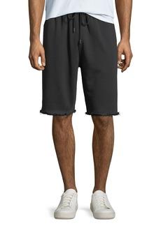 Helmut Lang Men's Distressed-Hem Knit Shorts