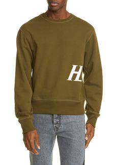 Men's Helmut Lang Monogram Crewneck Sweatshirt