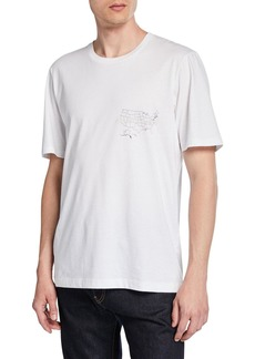 Helmut Lang Men's Laws Graphic Short-Sleeve Jersey T-Shirt