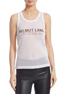 Helmut Lang Mesh Logo Tank