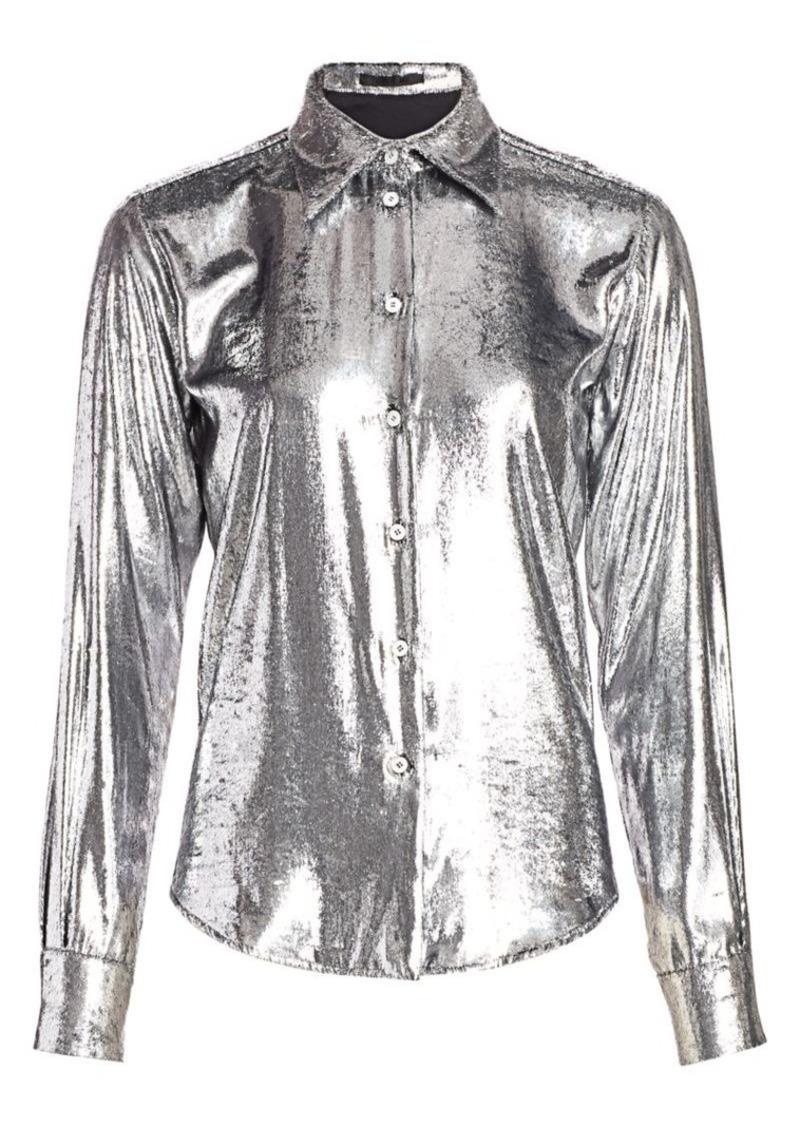 Helmut Lang Metallic Velvet Shirt