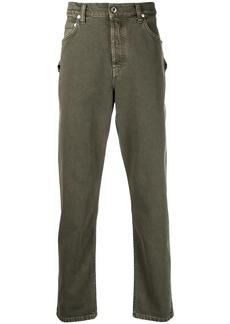 Helmut Lang mid-rise buckle-strap jeans