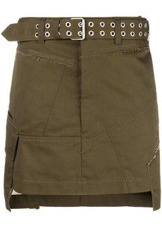 Helmut Lang military patch mini skirt