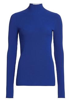 Helmut Lang Neon Ribbed Mockneck Sweater
