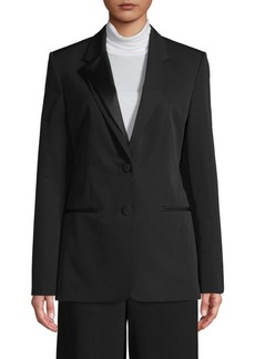 Helmut Lang Notch Lapel Wool-Blend Blazer