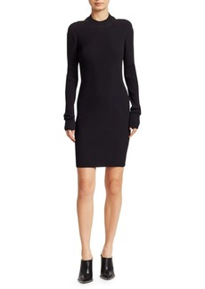 Helmut Lang Open Back Knit Sheath Dress
